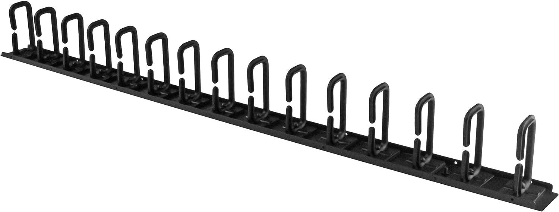 StarTech.com Vertical 0U Server Rack Cable Management w/ D-Ring Hooks - 20U Network Rack Cord Manager Panel - 3ft Wire Organizer (CMVER20UD)