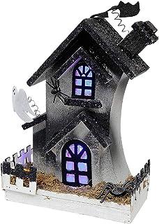 IH CASADECOR Led Haunted 3-Story House Figurine, Multi