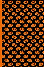 Halloween Pumpkins with Scary Faces Pattern: College Ruled Notebook