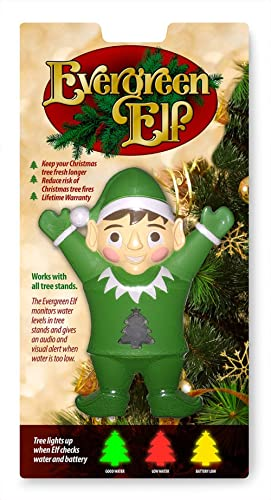 Evergreen Elf - Tree Water/Moisture Level Monitor - Fits All Tree Stands - Help Keep Trees Healthier Longer - Comes w...
