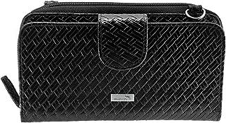 Women's Woven Leather Crossbody Smartphone Wallet Purse, with Wristlet (RFID)