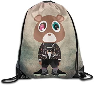 Stringiing Drawstring Backpack Bag Kanye West Bear