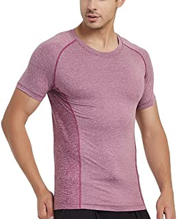 COMVIP Sport Gym Quick Dry Men Basketball Training Short Sleeve T-Shirt