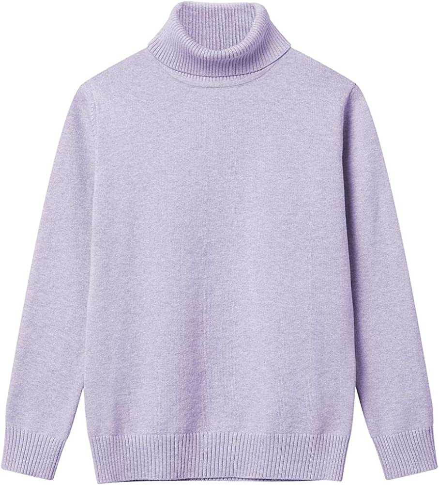 Girl Turtleneck Ranking TOP2 Sweaters Pullover Knitted Solid Long New product!! Colo Sleeve