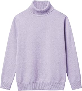 ac89fc1a0a Girl Sweaters Pullover Turtleneck Knitted Long Sleeve Solid Color Kids  Winter Tops Clothes