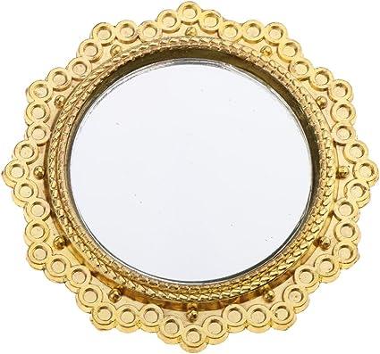 Miroir rond 1 in environ 2.54 cm Maison de poupées miniature sans cadre miroir decor Pack 10