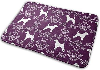 Beagle Pet Quilt C Dog Breed Coordinate Silhouette Floral_24847 Doormat Entrance Mat Floor Mat Rug Indoor/Outdoor/Front Door/