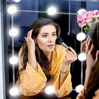 女優ライト ミラーライト 調光調色 超輝度 五段調光 洗面所 洗面台 化粧用 メイクアップ ドレッサーライト LED電球 防水 吸盤 USB給電式 全長4.8m