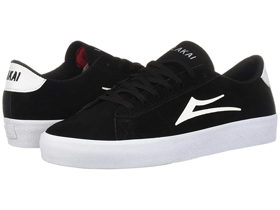 Lakai Newport (Black/White Suede) Men