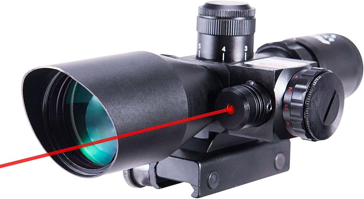 Pinty 2.5 10x40 AOEG Red Green Illuminated Mil dot Tactical Rifle Scope