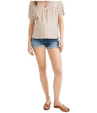 Madewell Maternity Denim Over-the-Belly Shorts in Burke Wash (Burke Wash) Women
