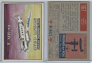 1952 Topps, Wings, 167 Avro Anson T. MK-20