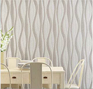Blooming Wall Extra-Thick Modern Non-Woven Leaf Flows Pattern Wallpaper Wall Paper Roll for Livingroom Bedroom, 39063