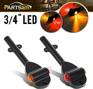 Partsam Set RED AMBER LED Trailer Fender Bullet 3/4