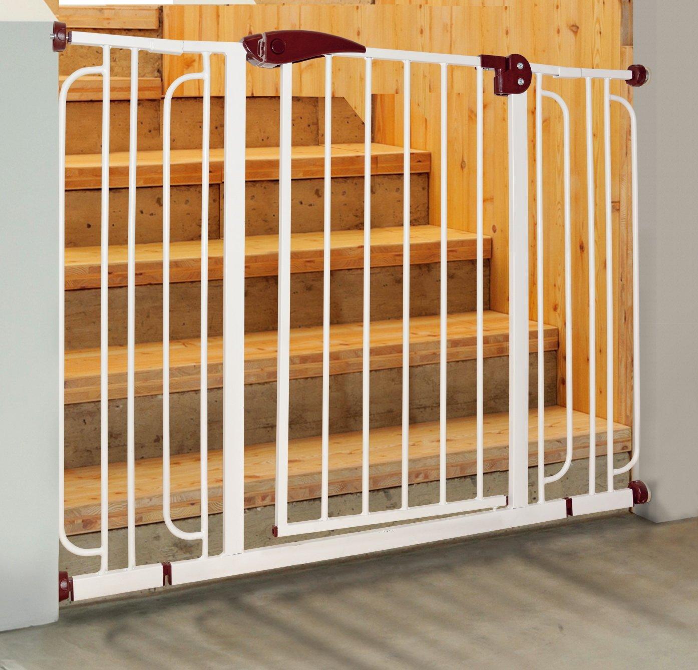 PAWISE 12551 Barrera Puerta Protección para escaleras para Perros Dog Safety, 76 x 84 cm: Amazon.es: Productos para mascotas