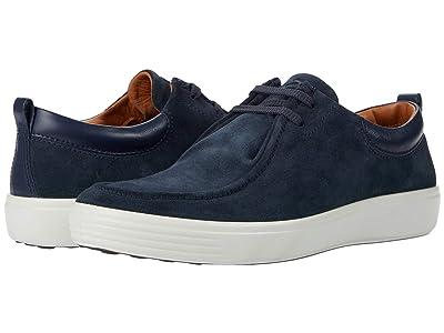 ECCO Soft 7 Wallaby Sneaker (Navy/Marine) Men