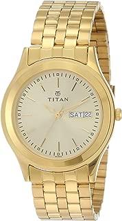 Titan Analog Gold Dial Men's Watch -NJ1648YM05
