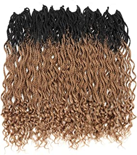 Goddess Wavy Box Braids Crochet Braids Hair With Curly Ends Low Temperature Synthetic Wavy Braiding hair Extensions(24 inches, 24Stands/Pack, 6Packs/Lot,OT27)