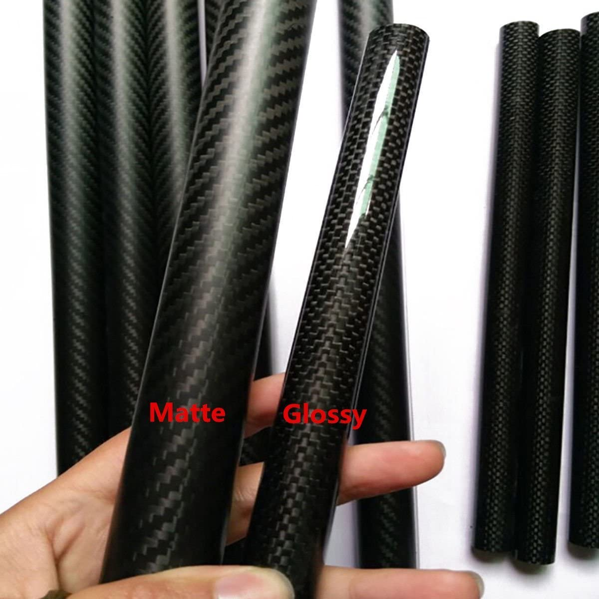 2PC Roll Wrapped Carbon Fiber Tube Glossy Surface 8mm 10mm 12m 14mm 16mm 18mm 20mm 22mm 68170mm