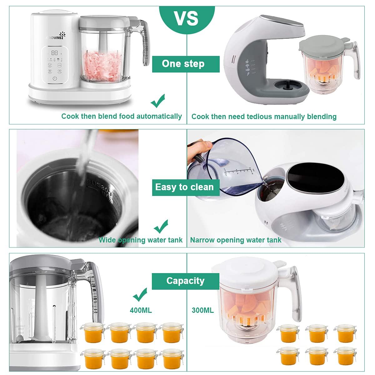 Baby Food Maker | Baby food Processor | Puree Blender Multi-Function Steamer Grinder Blender, Baby Food Warmer Mills Machine, Constant Temperature 24H, Auto Cooking & Grinding
