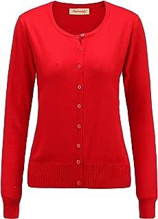 Panreddy Women's Wool Cashmere Classic Cardigan Sweater