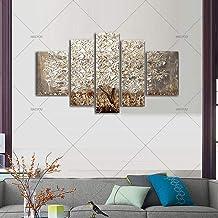 SANSNMI لوحة زيتية يدوية 5 قطع مجموعة على قماش ذات جودة عالية المناظر الطبيعية الحديثة جدار صورة لغرفة المعيشة ديكور المنز...