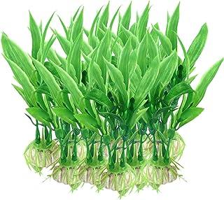 SunGrow Artificial Aquarium Plants for Aquatic Pets, 4.7 Inches, Plastic Plant Decor for Tropical Freshwater Tanks, Realis...