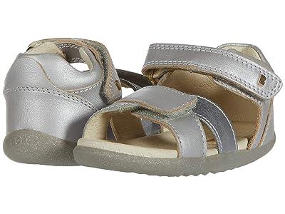 Bobux Kids Step Up Sail Sandal (Infant/Toddler) (Silver 1) Girl