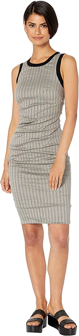 Striped Cotton Metal Sheath Dress