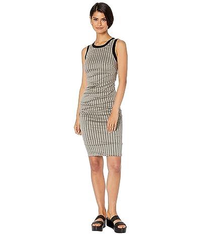 Nicole Miller Striped Cotton Metal Sheath Dress (Taupe) Women