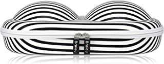 Bra Case Premium Lingerie Travel Bag Zip Underwear Organizer Bag for A-C Cup (Black Stripe)