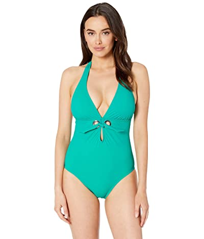 Miraclesuit Amoressa by Miraclesuit A Venetian Affair Murano One-Piece (Jade) Women