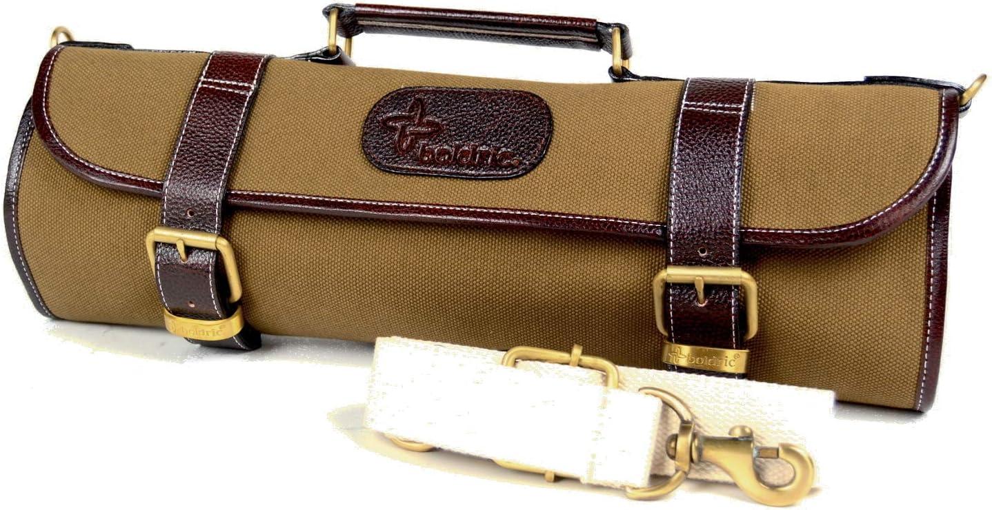 Boldric Khaki Canvas Roll Knife Max 50% outlet OFF Slot 9 Bag