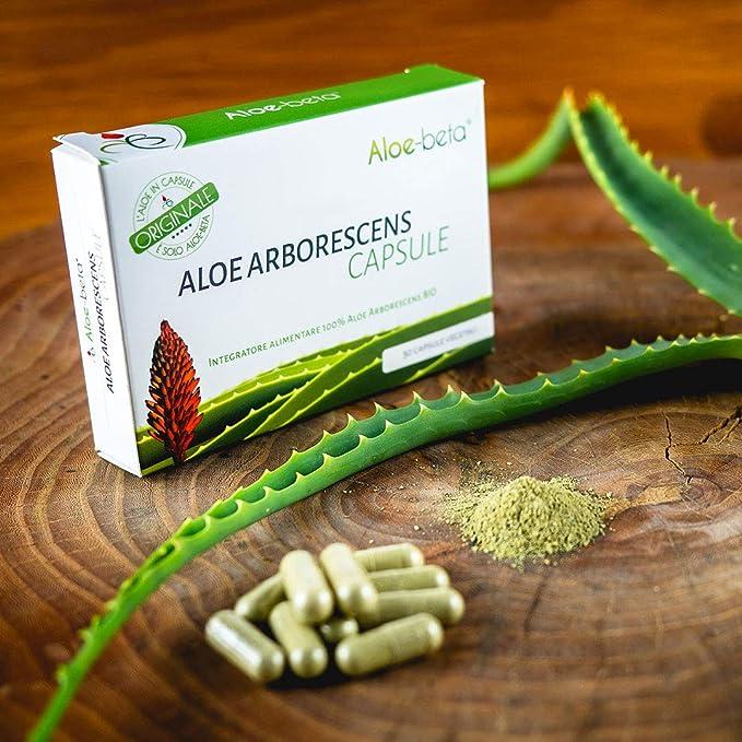 35 opinioni per Aloe Arborescens 100% in Capsule- Aloe Biologica- Made in Italy- Integratore