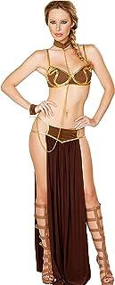 Sexy Costume Princess Leia Slave Miss Manners Cosplay Uniform Lingerie Plus Size Nightwear Club Wear