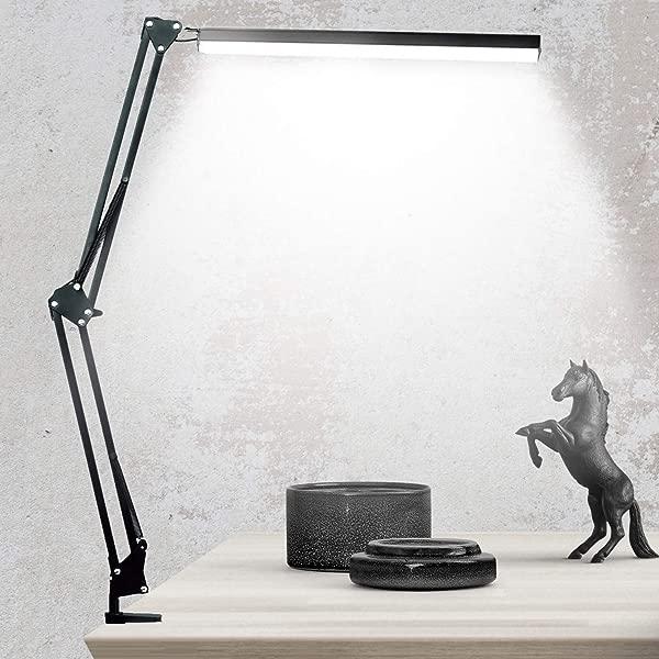 LED 设计师台灯 BZBRLZ 金属摆臂灯无限亮度调节眼部护理可调光台灯月色彩模式,一键式操作记忆功能