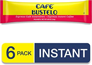 Cafe Bustelo Espresso Instant Coffee, 6 Single Serve Packets