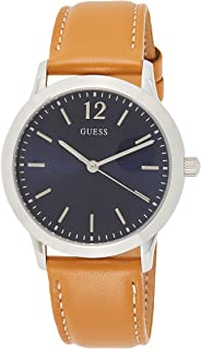 GUESS Mens Analogue Classic Quartz Watch with Leather Strap W0922G8