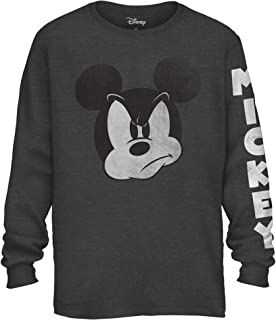 accea6c3 Mad Mickey Mouse Graphic Classic Vintage Disneyland World Men's Adult Long  Sleeve T-Shirt