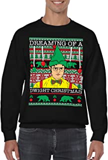 SpiritForged Apparel Dreaming of A Dwight Christmas Unisex Crewneck Sweater