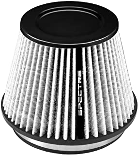 Spectre Performance HPR9605K Universal Clamp-On Air Filter: Round Tapered; 6 in Height; 7.719 in Top SPE-HPR9605K Base; 4.313 in 196 mm 152 mm 110 mm 260 mm Flange ID; 10.25 in