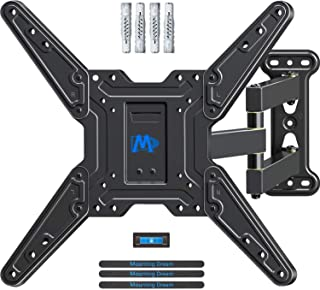 Mounting Dream TV Wall Bracket Mount Swivel and Tilt for most 26-55 Inch LED, LCD and OLED Flat Screen TVs up to VESA 400x...