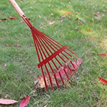 ZEROYOYO Garden Grass Leaf Rake Nine-Toothed Deciduous Grass Cleaning Tool Steel Wire Gardening Lawn Tools