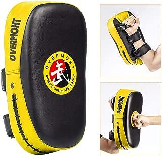 Overmont キックミット パンチングミット キックボクシング テコンドー 空手 総合格闘技 武術 練習 トレーニング ダイエット ストレス解消 子供 初心者に