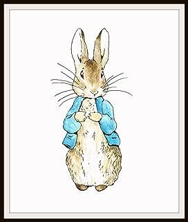 Beatrix Potter Peter Rabbit, Vintage Art Print Reproduction, Nursery, Baby Room, Shower Gift 8 x 10