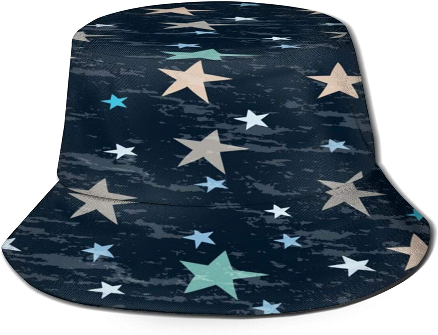 Ranking TOP5 Simple Pattern with Stars Super special price for Your Hat Sun Unisex Bucket Sum