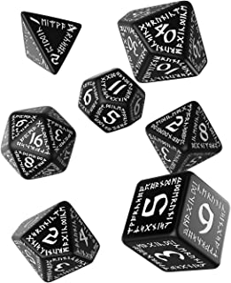 Q WORKSHOP Runic Dice Black/White (7) Board Game
