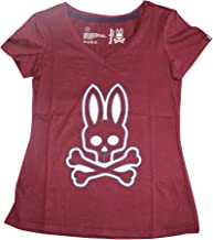 Psycho Bunny Women's V-Neck Short Sleeve Logo Knit Sleep Tee Shirt LPB4024 T-Shirt
