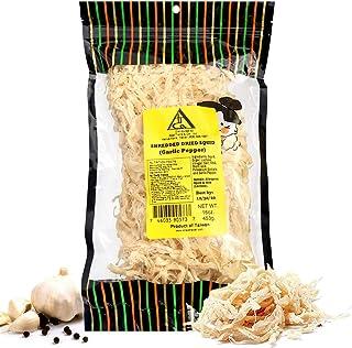 Garlic Pepper Saki Ika Dried Cuttlefish Snack | Hawaiian Seafood Jerky | High-Protein, Low-Fat, Low-Calorie (16 oz)