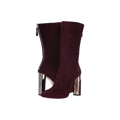 Alexander McQueen Sculpted Heel Fitted Bootie (Deep Purple) Women